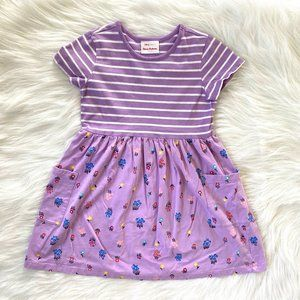 Hanna Andersson Purple Floral Mixie Playdress 6/7